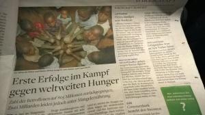 Ein Blick in die Zeitung