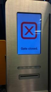 Wegen Überkofferung und Vermantelung heute geschlossen.